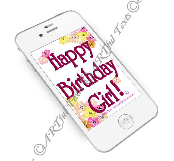 HAPPY BIRTHDAY GIRL - Text Message by ARTfulTexts on Etsy