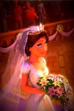 Bride In Wedding Dress Rapunzel DressBudget DressDisney