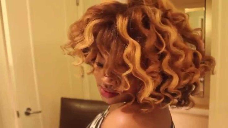 SLEEK & SEXAY - WAND CURLS ON NATURAL HAIR TUT | CharyJay