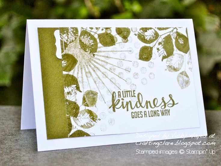 Stampin' Up ideas and supplies from Vicky at Crafting Clare's Paper Moments: Kinda Eclectic by Stampin' Up - Warning: could be addictive for...