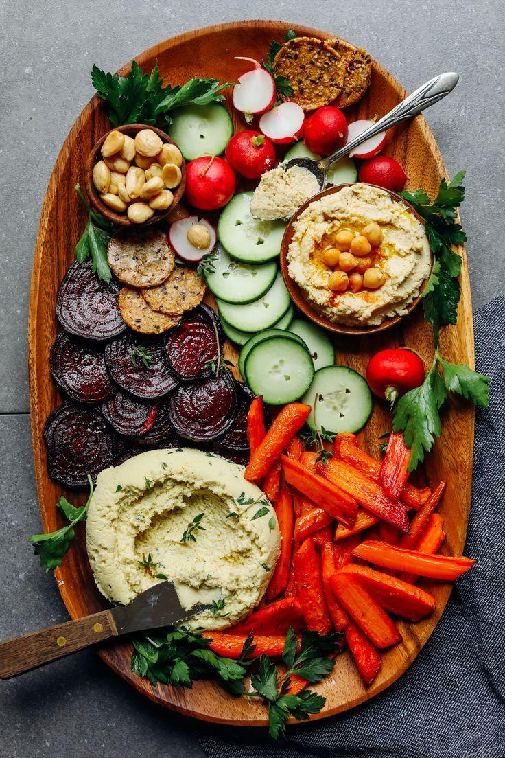 Quick + Easy VEGAN Crudite! 5-minute Macadamia Nut Herb Cheese + Veggies! #vegan #glutenfree #crudite #recipe #minimalistbaker