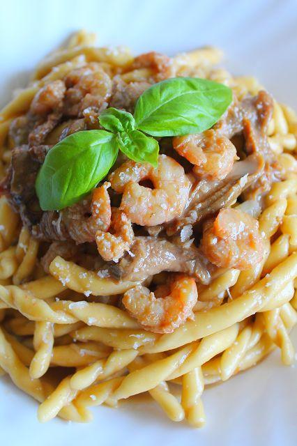 La Tavola Allegra: Busiate con Funghi Porcini, Gamberi e Crema di Parmigiano Reggiano #PRchef2015