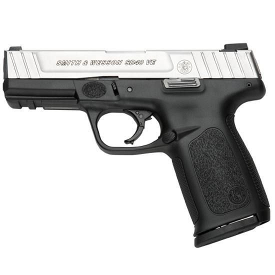 $326     S&W SD40 VE Semi Automatic Pistol .40 S&W 4 Barrel 14 Round Capacity Polymer Grip Matte Duo Tone Finish 223400