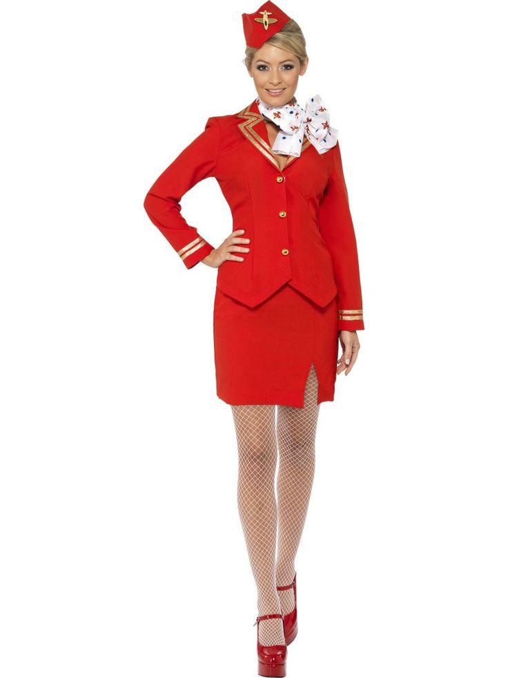 Rojo Azafata Virgin Azafata Azafata Tripulante De Cabina Disfraz in Ropa, calzado y complementos, Disfraces y ropa de época, Disfraces | eBay