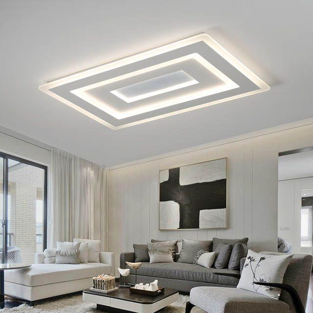 Online Shop Quadrato bianco Moderna Led Lampadario lustre