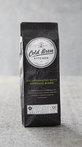 Cold Brew Kitchen Decaffeinated Elite Espresso Coarse Ground Coffee
