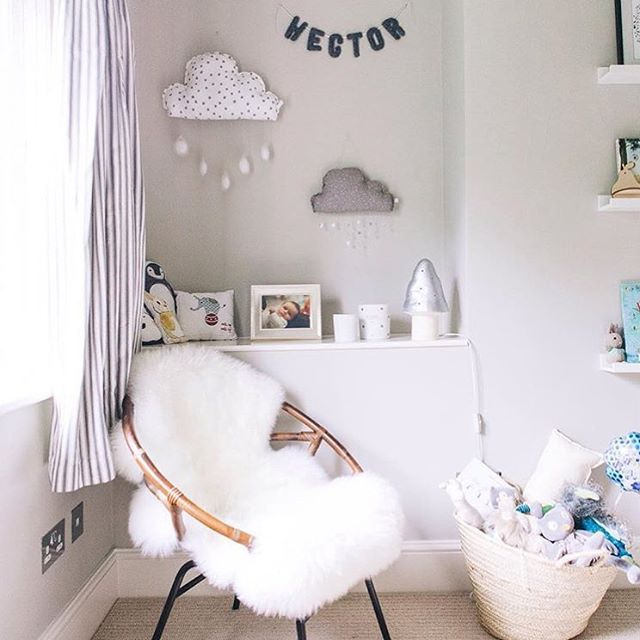 """""""Spied our 'Hector' bunting in this beautiful nursery curated by the fabulous…"""