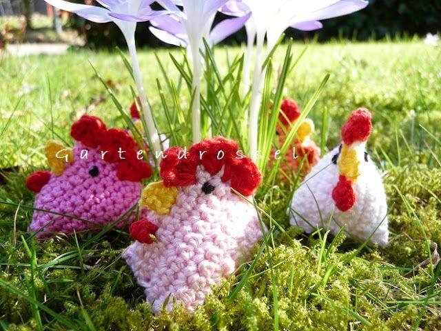 Kreatives aus dem Drosselgarten: Gackernde Hühnchen im Gras