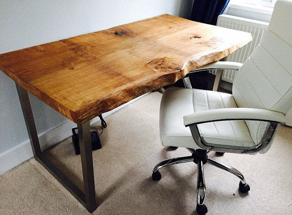 Custom Made Waney Edge Oak Slab Table Tops Made By SkyHighDesign