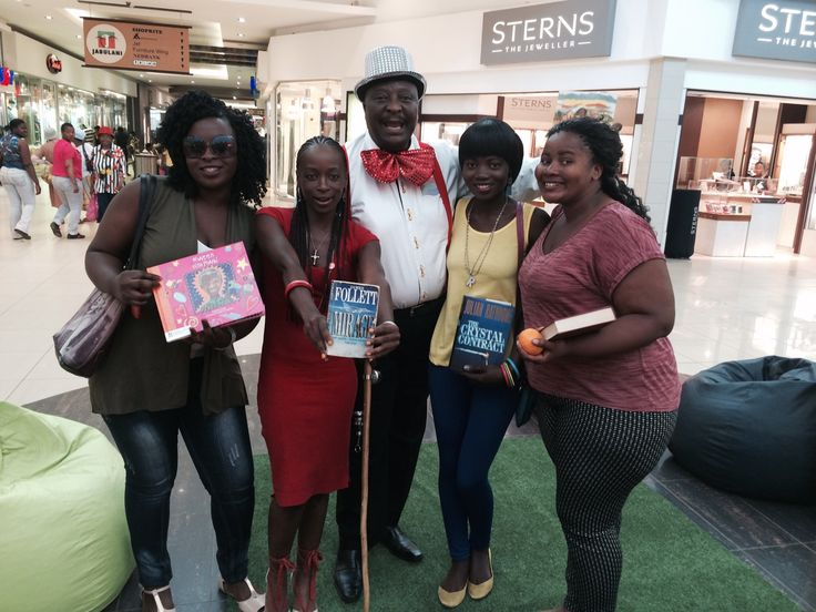 The beauties and Mr Book!