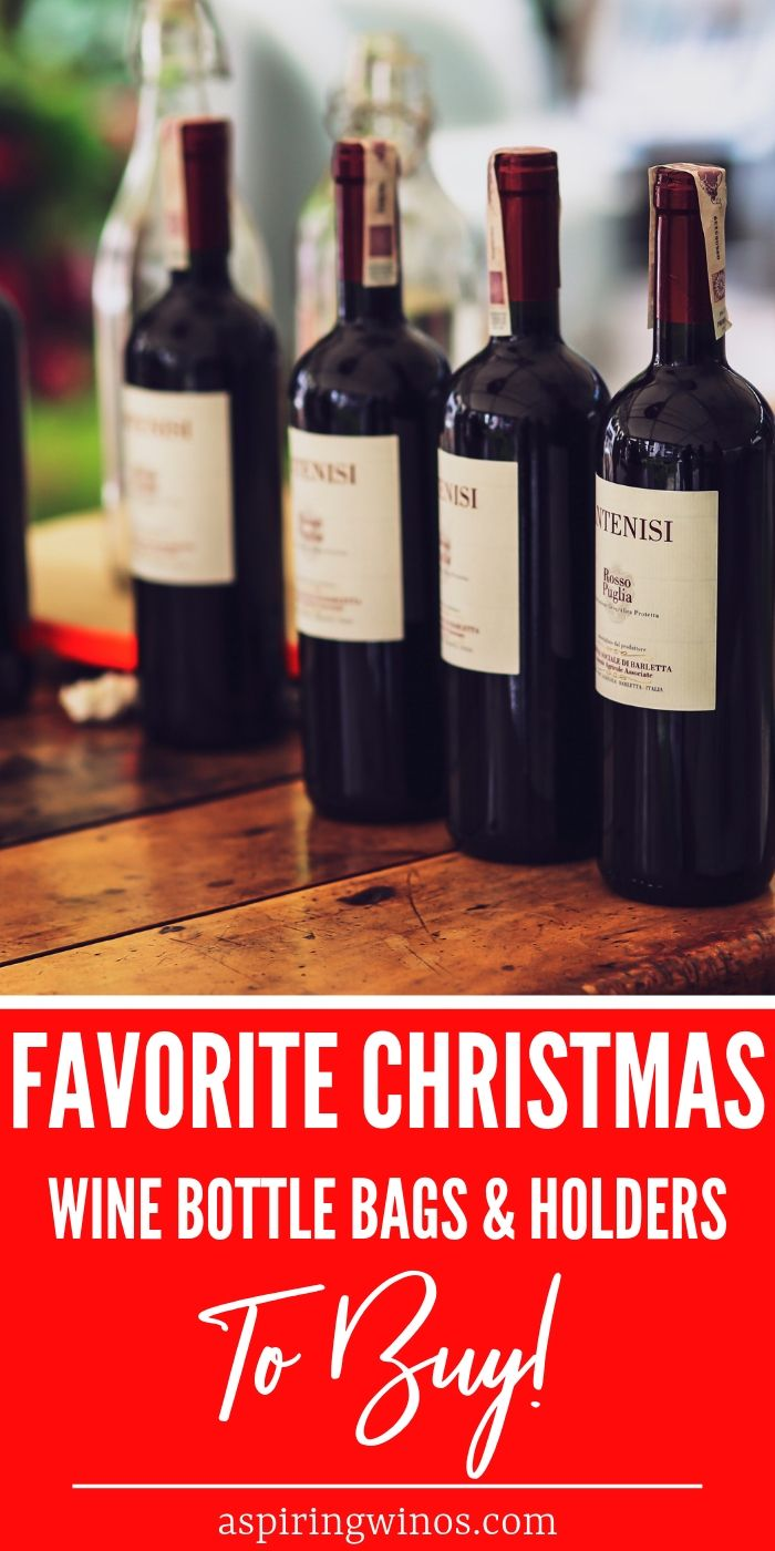 Our 20 Favorite Christmas Wine Bottle Bags And Holders Christmas Wine Bottles Christmas Wine Wine Gifts