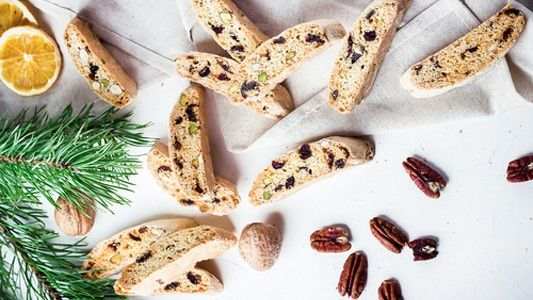 Talianske vianočné biscotti