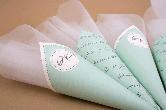 wedding favor cones favor paper cones bomboniera