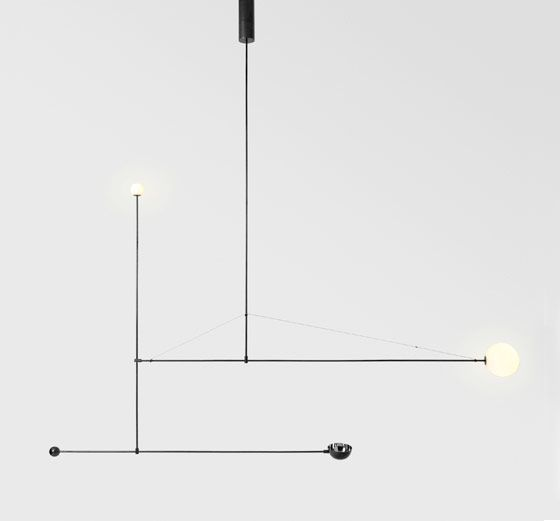 type of lighting. i am so loving these kinetic type lighting fixtures from michael anastassiades of