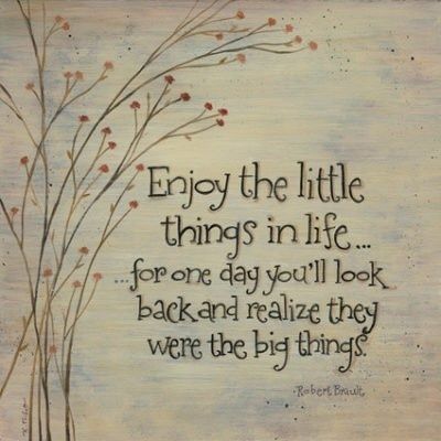 """family quotes inspirational - """"Enjoy the little things in life... for one day you'll look back and realize they were the big things."""