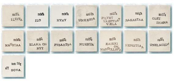 Text Tiles by Terraviiva ( remember to SLEEP, remember to LOVE, remember to FORGET...)