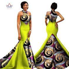 2017 African Women Long Dresses Dew Shoulders Women Formal Elegant Dresses Print Wax Party Gowns Plus Size Dress Female WY1314