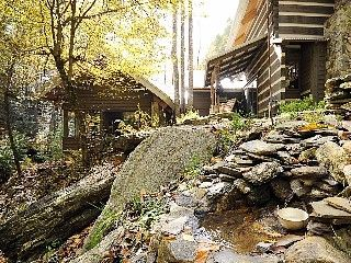 THE ULTIMATE ROMANTIC GETAWAY BY THE CREEK, A Luxury One Bedroom Cabin--- This truly unique dream house project is designed by a California architect husband and an architectural designer / construction manager ...