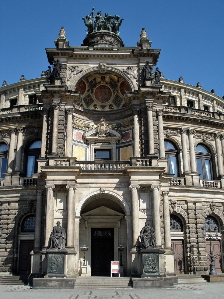 19TH CENTURY, Neo-Classicism, Germany - Gottfried Semper (1803-79): The Oprea House, 1871-8, (rebuilt after 1945), Dresden.