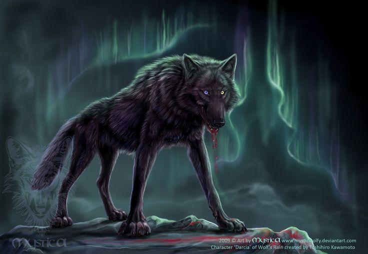 Black Anime Wolf | Darcia from Wolf's Rain by *BlackMysticA on deviantART