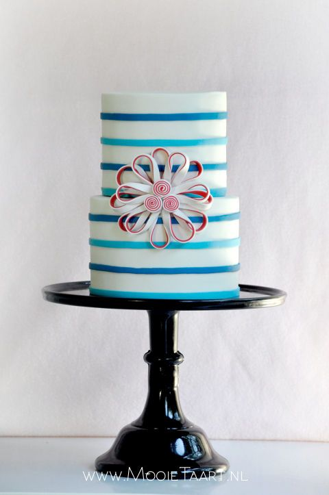 Stripes and bows Cake
