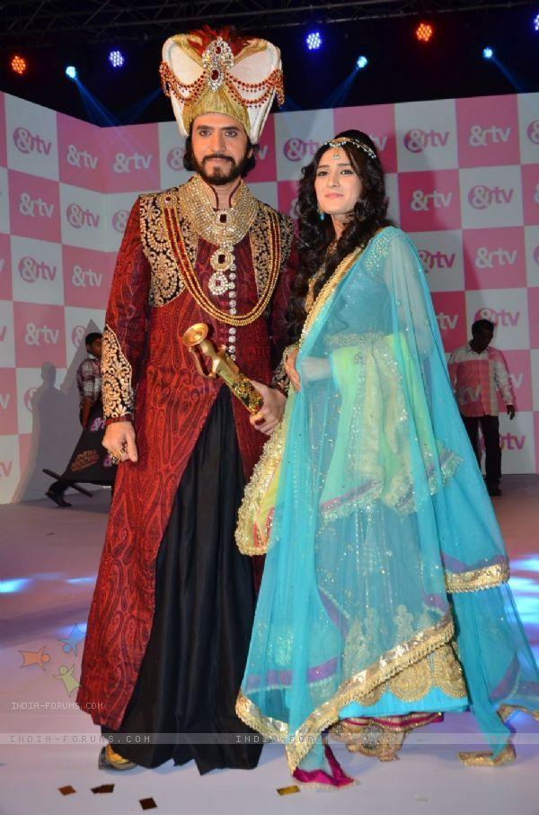 sooraj thaper & pankhuri awasthi in razia sultan...at the launch of &tv