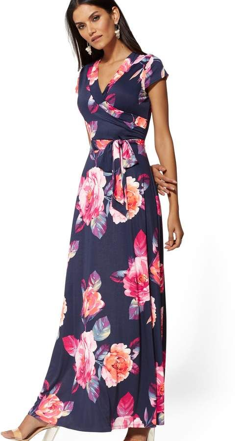 f1ab587d269d6 New York   Company Navy Floral Wrap Maxi Dress  ShopStyle  shopthelook  ad   sponsored  SpringStyle  MyShopStyle  SummerStyle  BirthdayParty   BeachVacation ...