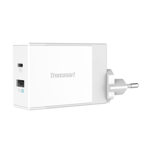 (23.91$)  Know more  - Tronsmart W2DC USB Type-C Charger 42W USB-C Wall Travel Charger Fast Charging Speed 1 Type-C Port 1 USB VoltiQ Port Multi-Protective Foldable Plug for MacBook Samsung Galaxy Xiaomi