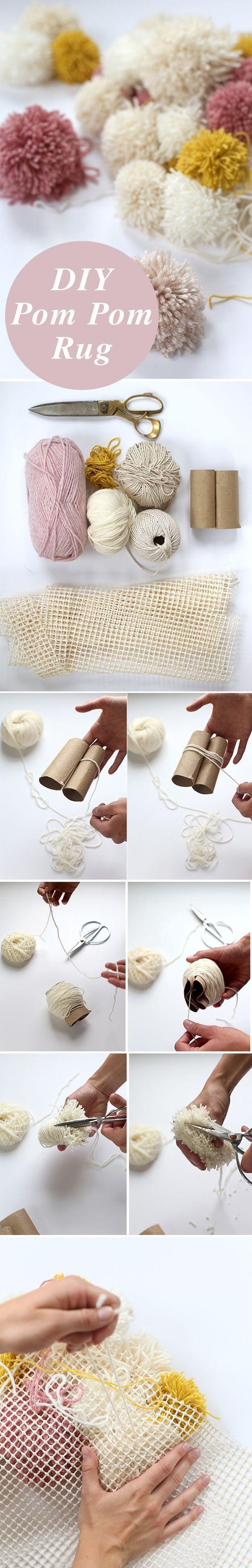 DIY Pom Pom Rug | 17 Cozy DIY Projects to Keep You Warm This Winter