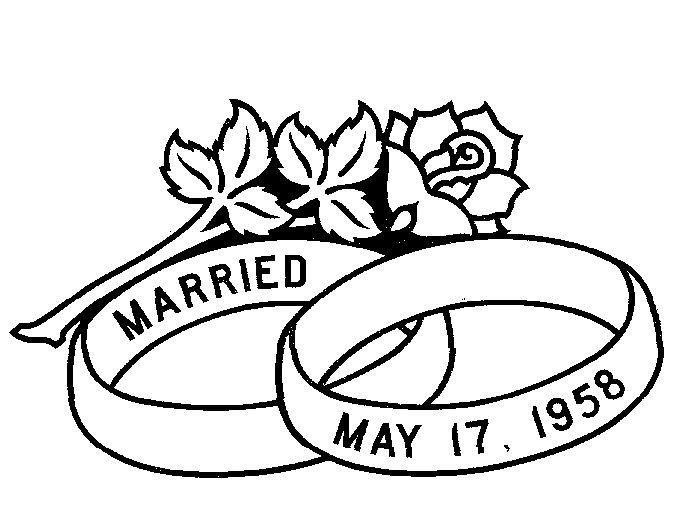 Картинки про, свадебная картинка с кольцами черно белая