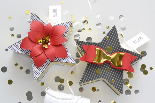 Star Mini Pinata Gift Boxes by Aly Dosdall for We R Memory Keepers.