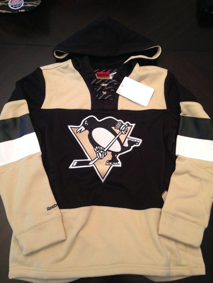 NHL Pittsburgh Penguins Youth Poly Fleece Hooded Sweatshirt  www.mancavesonline.com