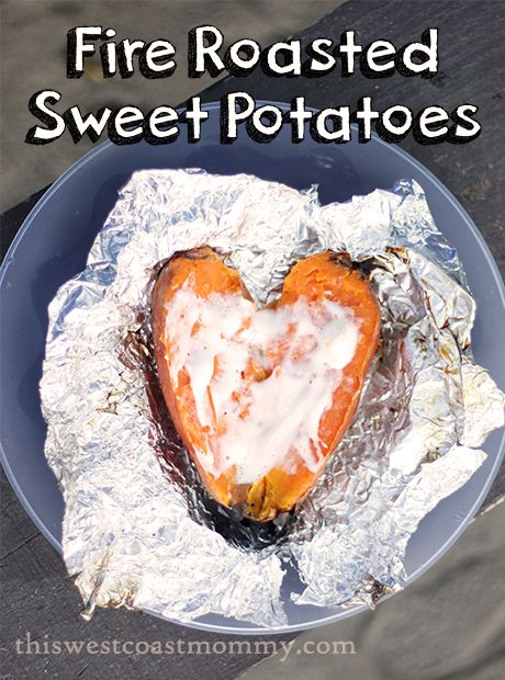 Fire Roasted Sweet Potatoes recipe - perfect for camping!