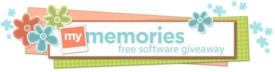 My Memories Software giveaway