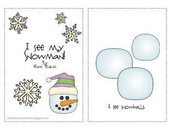Free! I See My Snowman Emergent Reader