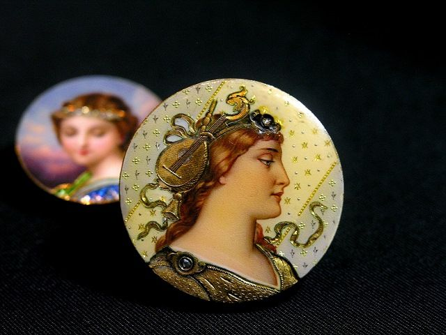 Swiss enamel brooch  circa 1880 (C)Regard Co.,Ltd