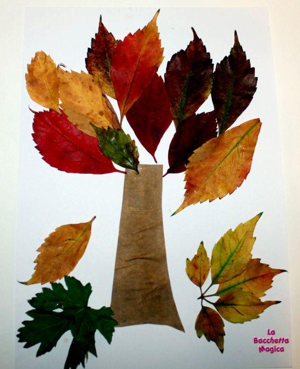 Albero con le foglie, lavoretti per i bambini