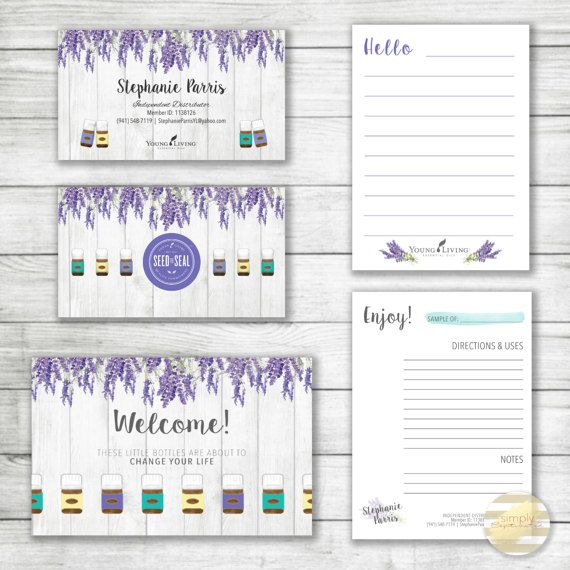 10 best young living images on pinterest business card design lavender barnwood young living essential oils business card kit custom design digital printable kit for independent distributors colourmoves