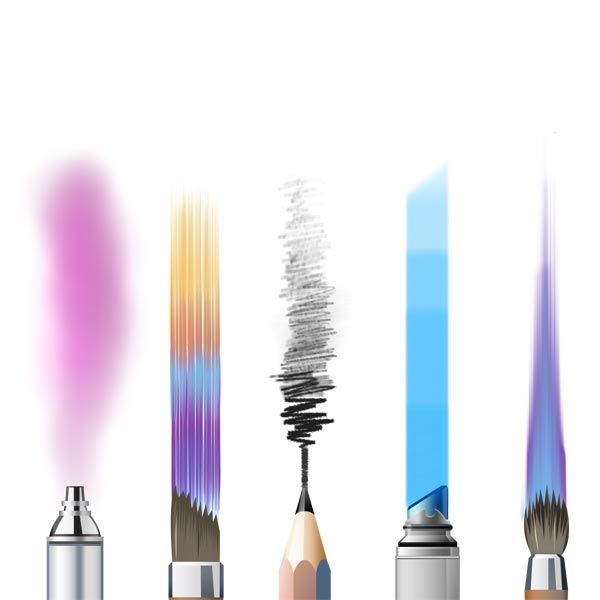 5 Of 16 Essential brushes included with SketchBook (Autodesk Sketchbook)