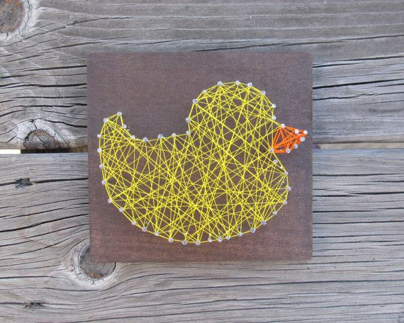 Custom Rubber Duck Bathroom String Art