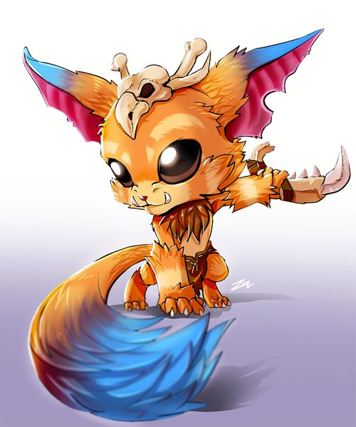 grafika gnar, league of legends, and cute