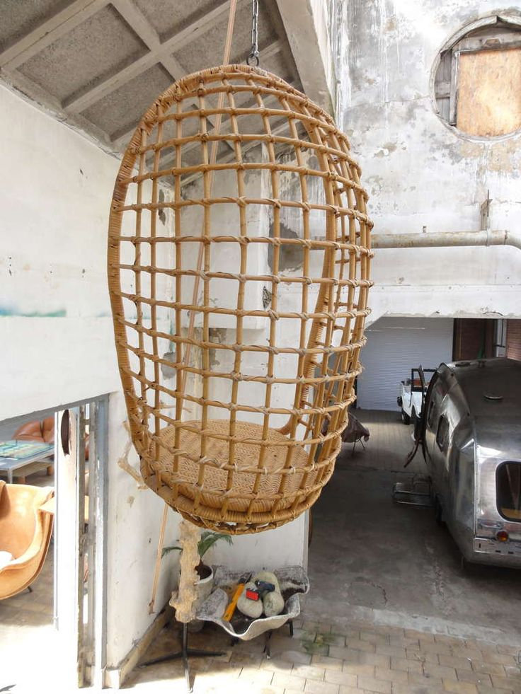 1960u0027s Rohe Cane Hanging Chair    Check Out This Selleru0027s ...
