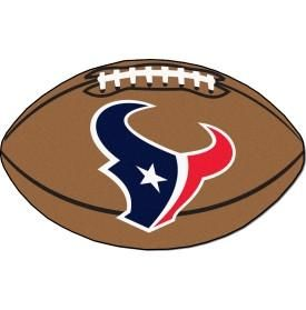 Houston Texans football shaped mat