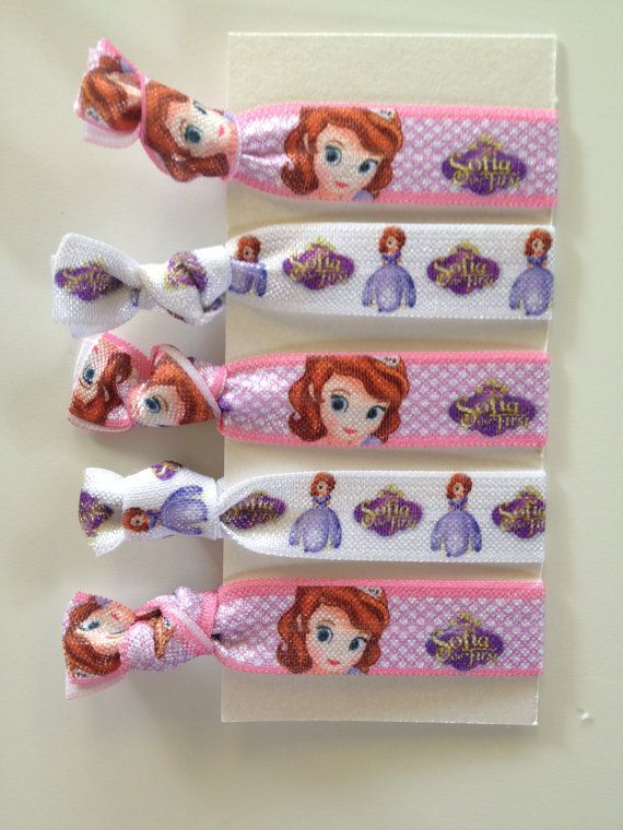 Disney Princess Sofia The First Elastic Hair Ties  by OliverandMay, $5.99