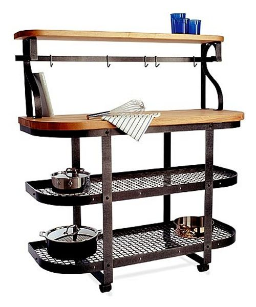 Enclume Chefs Gourmet Bakers Rack Island with Hutch - Bakers Racks at Hayneedle
