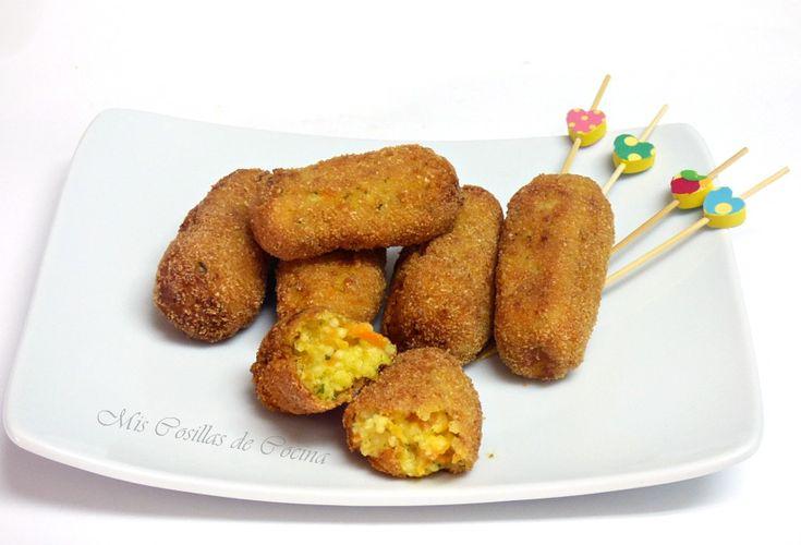Croquetas de Mijo zanahoria y queso - Mis Cosillas de Cocina