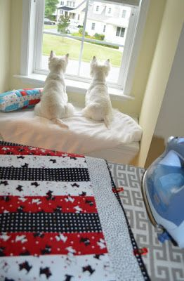 Westie Julep: The Westies ... And ... Some New Fabric