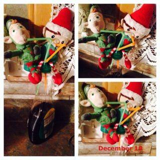 Elf on the shelf ideas maple syrup drink