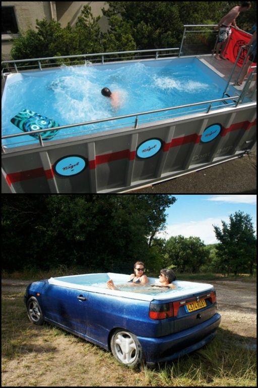 Makeshift Swimming Pools | Diy swimming pool, Diy pool ...