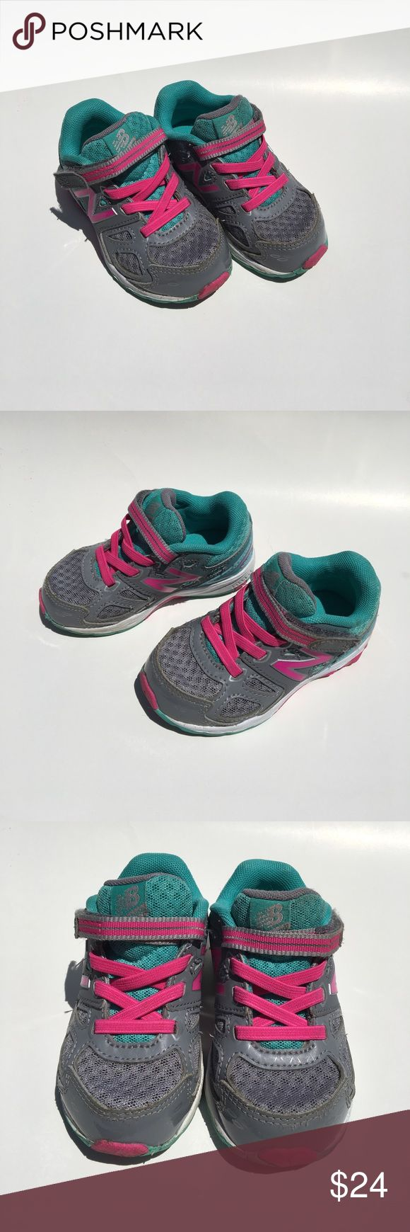 New Balance toddler girls tennis shoes New Balance 680 v3 toddler girls running shoes. My daughter barely wore these and they are in great shape. New Balance Shoes Sneakers